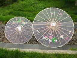Китайский зонт от солнца бамбуковый