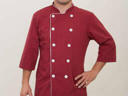 Китель для повара бордового цвета