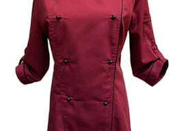 Кітель двобортний жіночий, Тканина - TR-MED Голландія. Колір бордо з чорним кантом