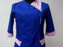 Китель поварской женский синий, пошив под заказ