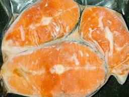 Кижуч рыба стейки свежемороженые