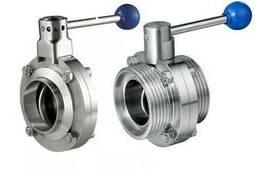 Клапан дисковий нержавіючий: AISI 304, AISI 316