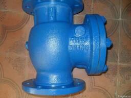 Клапан обратный поворотный стальной фланц19c53нж ду100ру16