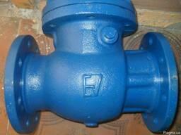 Клапан обратный поворотный стальной фланц19c53нж ду100ру16 - фото 3