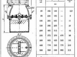 Клапан обратный приемный фланцевый с сеткой 16ч42р Ру2, 5