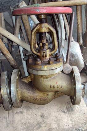 Клапан запорный ДУ 100 ру 160