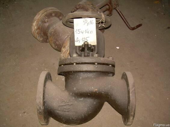 Клапан запорный проходной чугунный 15ч14п Ду50-Ду200