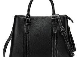 Классическая женская сумка в коже флотар Vintage Черная. ..
