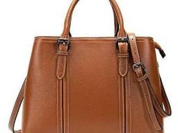 Классическая женская сумка в коже флотар Vintage Рыжая. ..