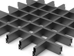 Подвесной потолок грильято Крафт ячейка 100х100 мм