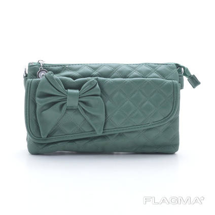 Клатч сумка 80009 green. Экокожа