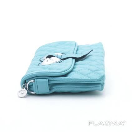 Клатч сумка 80010 water blue. Экокожа