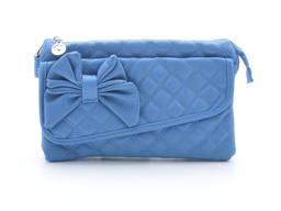 Клатч сумка 80012 blue. Экокожа