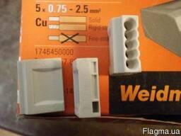 Клемма Weidmuller D1. 5/2. 5-5, 5- полюсов, сечение провода 0