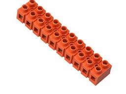Клеммный блок H2519-10P 36A/660V, материал медь, сечение провода 0. 5-6мм2