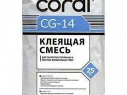 Клей для пенопласта Coral 25 кг