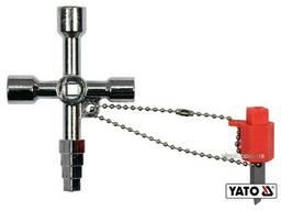 Ключ універсальний до шаф майстерень YATO з викрутковою насадкою з плоским шліцом на. ..