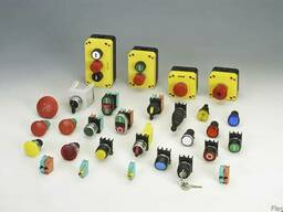 Кнопки, джойстики и лампочки производителя Giovenzana Intern