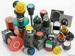 Кнопки, переключатели, блоки управления исигнальная арматура