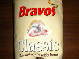"""Кофе """"Bravos"""" в зернах, 100% робуста, 1 кг."""