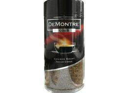 Кофе De Montre Gold растворимый 200 грамм в стеклянной банке