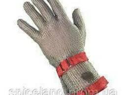 Кольчужна 5-пала рукавичка з текстильним ремінцем ПП з відворотом 7,5 см.