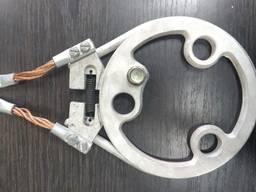 Кольцо токоприемника со щетками в сборе на на кран Ганц.