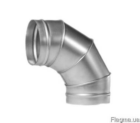 Колено, отвод вентиляционное оцинкованное 100мм