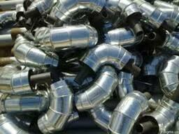 Коліно сталеве в Спіро оболонці 630/800