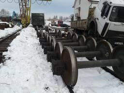 Колесная пара на грузовые вагоны б/у 30-35 мм.