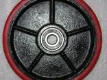 Колесо ∅ 200х50 полиуретан в сборе с подшипниками для роклы - фото 1