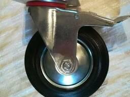 Колесо поворотное с тормозом D=100,125,160,200 мм