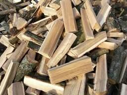 Колотые дрова дубовые в сетках