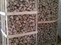 Колотые дрова грабовые, дубовые, ясеневые (сырые)