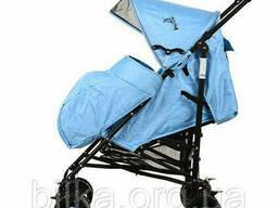 Коляска детская 1109-3-4B прогулочная (108-88-49 см), голубая, + чехол на ножки