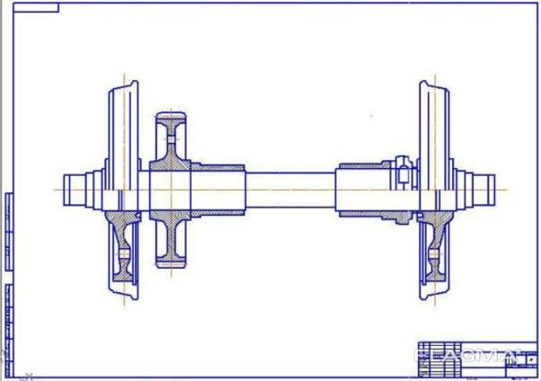 Колёсные пары тепловоза ЧМЭ-3