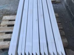 Колышек для полей деревянный 30х40х1500 мм белый.