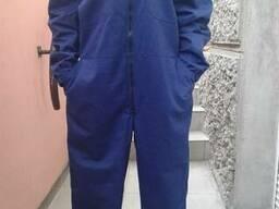Комбинезон цельный синий саржа 100% хлопок, заказ на пошив