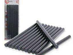 Комплект чорних клейових стрижнів 11,2 мм x 200 мм, 12 шт. Intertool RT-1023