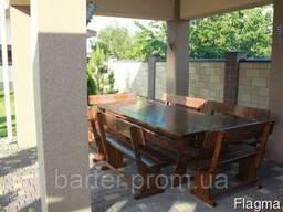 Комплект деревянной мебели для беседки 2500х1200 6 лавочек