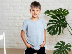 Комплект детских хлопковых футболок из 3 штук в цветах 2-5 лет