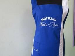 Одежда для продавцов:фартук-накидка, пилотка, логотип пошив