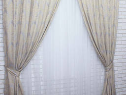 """Комплект готовых штор из ткани лён коллекция """"Роксолана"""""""