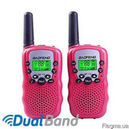 Комплект из двух раций Baofeng BF-T3 (pink)