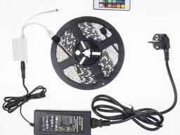 Комплект LED лента RGB 5050 5 метров, многоцветная, ip65, вл