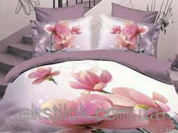 Комплект постельного белья, Микрофибра 3D, Весенний мотив, Е
