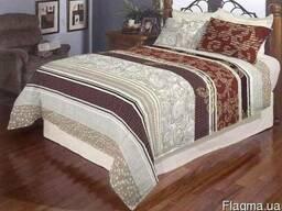 Комплект постельного белья, полуторный, бязь, цветная