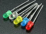 Комплект разноцветных светодиодов диам. 5мм (50шт ассорти. .. - фото 1