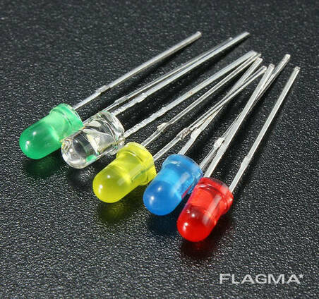 Комплект разноцветных светодиодов диам. 5мм (50шт ассорти. ..