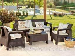 Комплект садових меблів зі штучного ротангу Corfu Set Max капучіно (Keter)